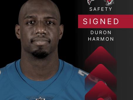 Safety Duron Harmon von den Atlanta Falcons verpflichtet