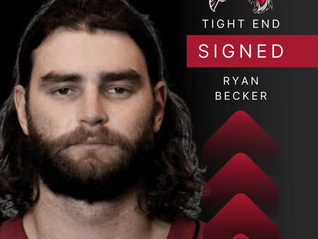 Tight End Ryan Becker von den Atlanta Falcons verpflichtet