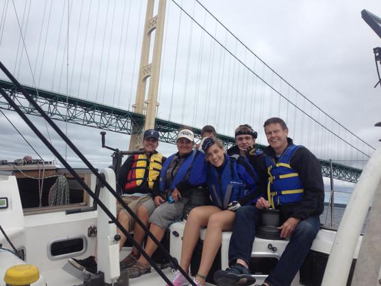 Under the Mackinac Bridge