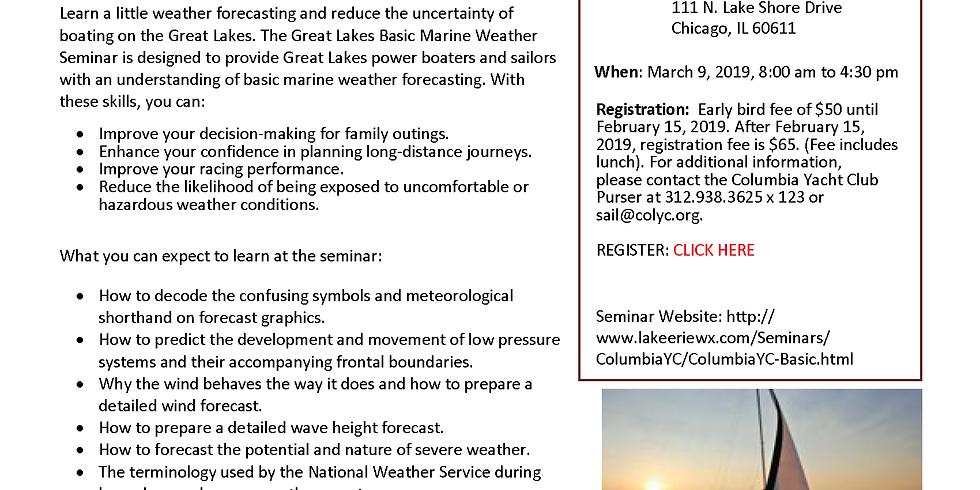 Great Lakes Basic Marine Weather Seminar