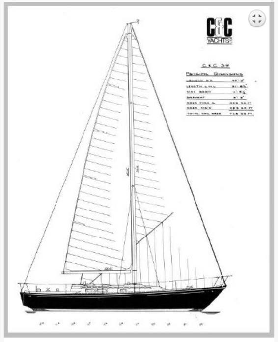 Sail Plan of C&C 39