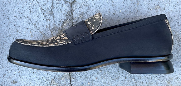 CALDER LOAFER WITH SQUIGGLES FABRIC