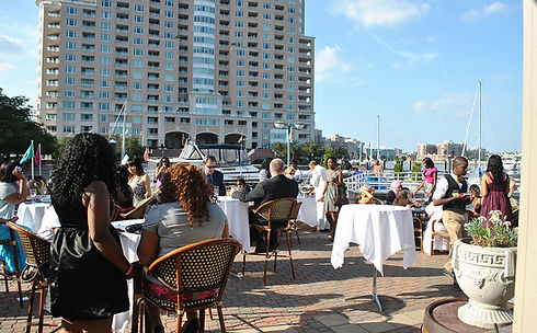 Outdoor Wedding Ceremony in Baltimore At Tabrizi's Wedding Venue