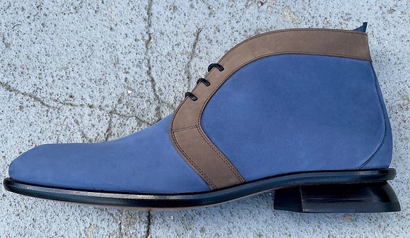 CHARLZ - ANKLE BOOT -BLUE SUEDE