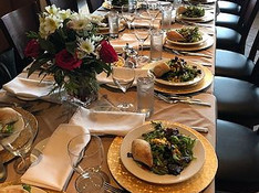 Rehearsal Dinner Spread At Tabrizi's Restaurant & Wedding Venue