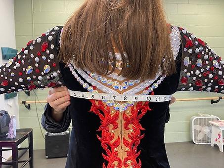 Underarm To Underarm On The Back Of Irish Dance Dresses
