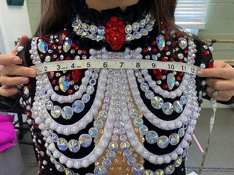 Shoulder To Shoulder Dress Measurements for Front Of Irish Dance Dress