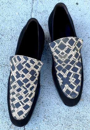 CHIP LOAFER IN SQUARES FABRIC