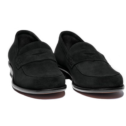 CALDER LOAFER IN BLACK SUEDE