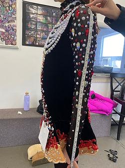 Measuring The Arm Length on Irish Dance Dresses