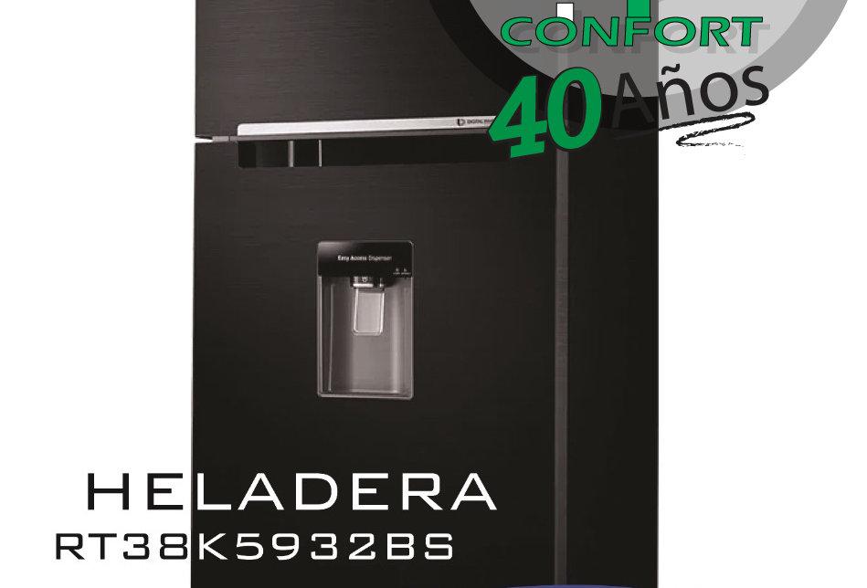 HELADERA SAMSUNG RT38K5932BS 380 LTS BLACK