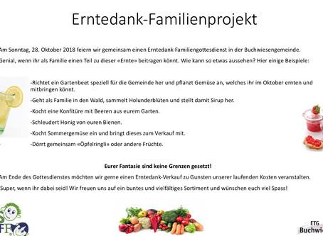 Erntedank Familienprojekt