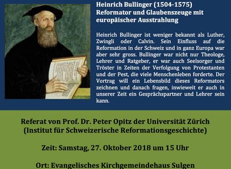 Vortrag: Heinrich Bullinger