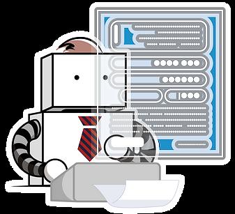 ロボットがWEBフォームへ自動入力します。