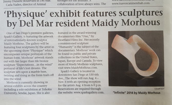 Sculptor Maidy Morhous at Sparks Gallery