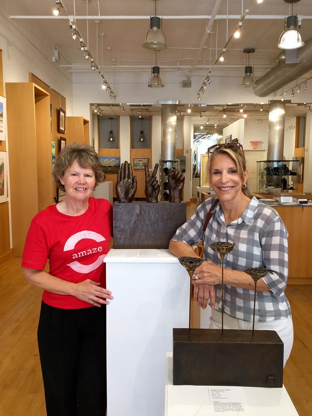 Heartland Films Sue Vicory & sculptor Maidy Morhous