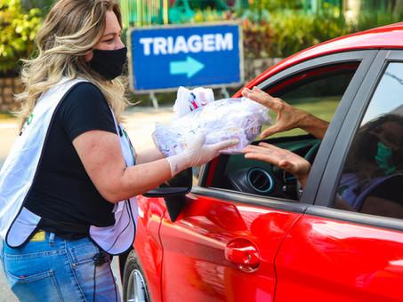 Osasco organiza drive-thru com campanha solidáriade arrecadação de alimentos