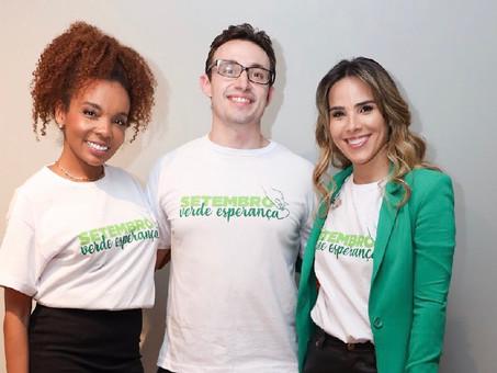 Wanessa Camargo, Thelminha e Clodoaldo Silva foram convidados da Campanha Setembro Verde Esperança