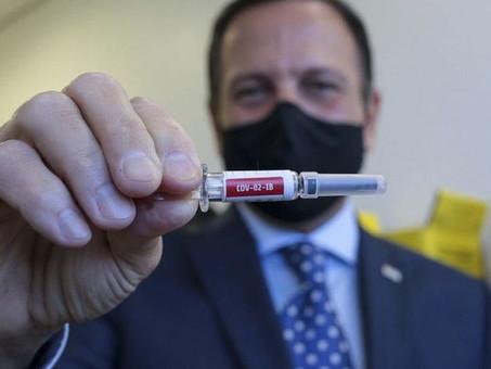 """China permite que Doria chame CoronaVac de """"vacina do Brasil"""""""