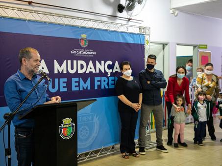 Prefeitura de São Caetano inicia obras de requalificação da EMI Fernando Pessoa