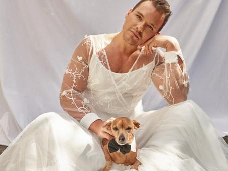 Mês das Noivas [para eles]: Apresentador do SBT MG se veste de noiva em ensaio temático de casamento