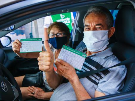 Osasco vacina 2.859 idosos em quatro dias de drive-thru