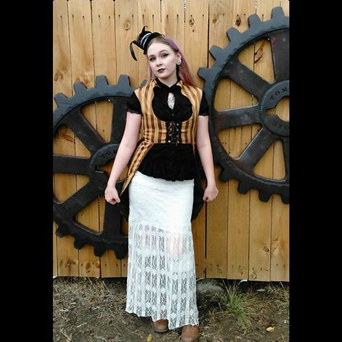 Women's Steampunk Striped Tail Vest