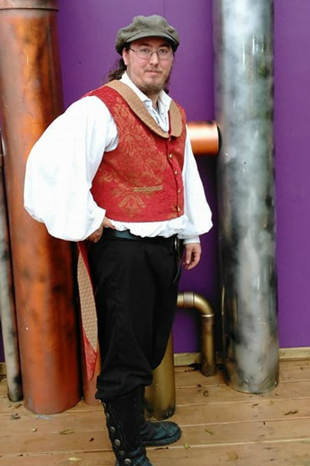 Men's Steampunk Vest/Waistcoat with Tails