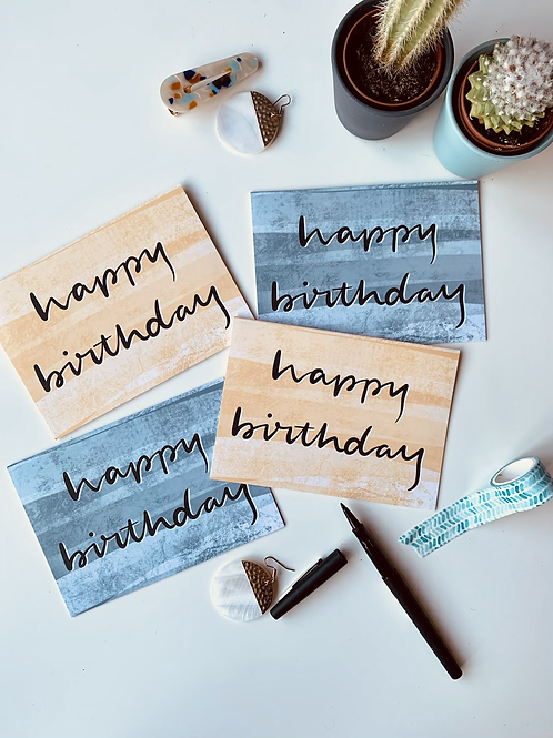 Happy Birthday - card bundle of 8