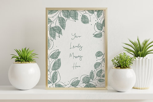 Your message on an A4 print