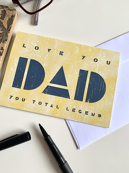 Father's Day Card- single
