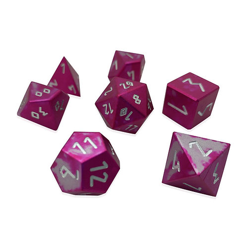 SUGAR BOMB - WONDROUS DICE SET OF 7 RPG DICE BY NORSE FOUNDRY PRECISION POLYHEDR