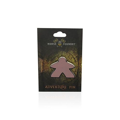 RAINBOW MEEPLE - HARD ENAMEL ADVENTURE PIN METAL BY NORSE FOUNDRY