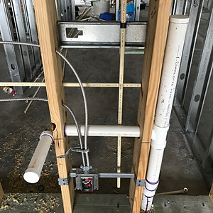 Insulation Completed and Plumbing