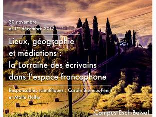 Les 30 novembre et 1er décembre 2017, une communication de Françoise Alexandre, de l'Université