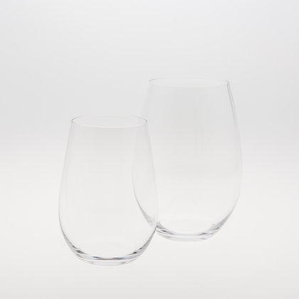 RIEDEL CRYSTAL STEMLESS GLASSWARE