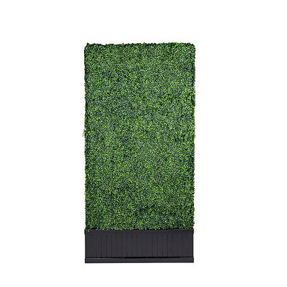 DOUBLE SIDED FAUX HEDGE WITH BLACK BASE