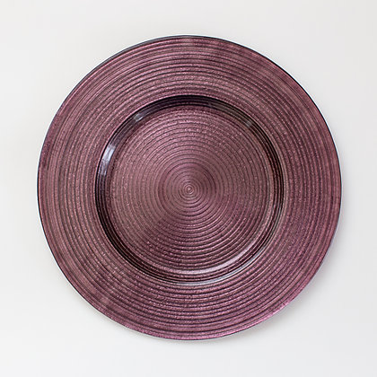 MERLETTO PURPLE GLASS CHARGER