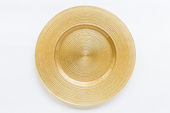 MERLETTO GOLD GLASS CHARGER