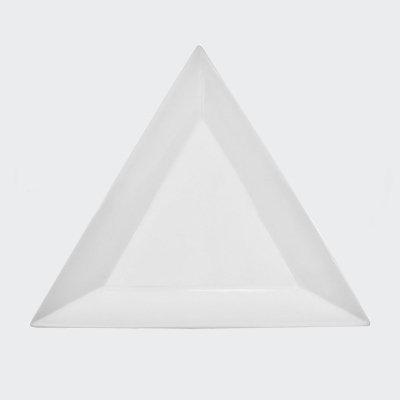 TRIANGLE WHITE SALAD PLATE