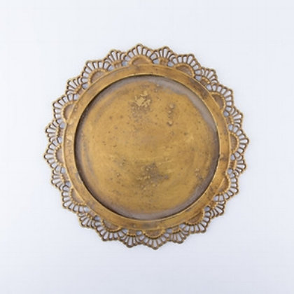 CATERINA METAL CHARGER - ANTIQUE GOLD