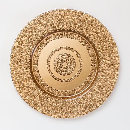 CATENA BRONZE GLASS CHARGER