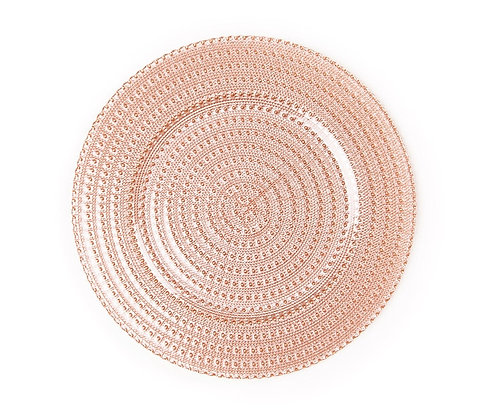 BEVERLY BLUSH GLASS CHARGER