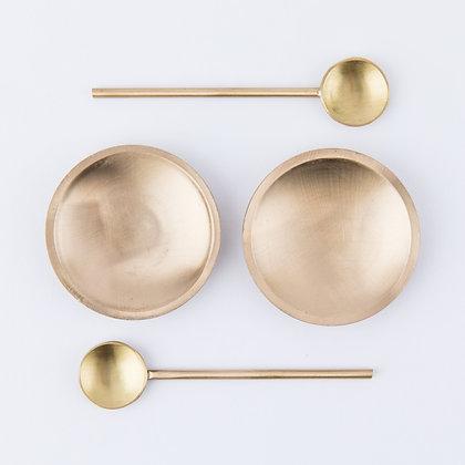 AVA SALT CELLARS - BRUSHED GOLD
