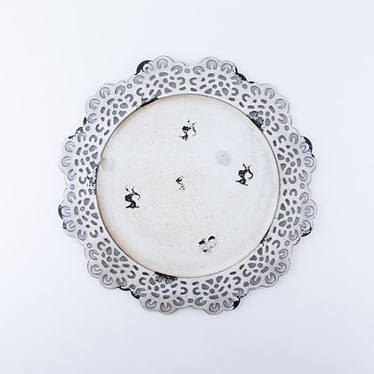 EMMA METAL CHARGER - ANTIQUE WHITE