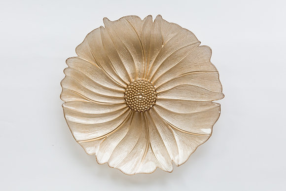 FIORI GOLD GLASS CHARGER