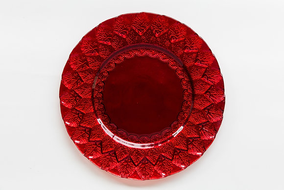 LEAF RED GLASS CHARGER