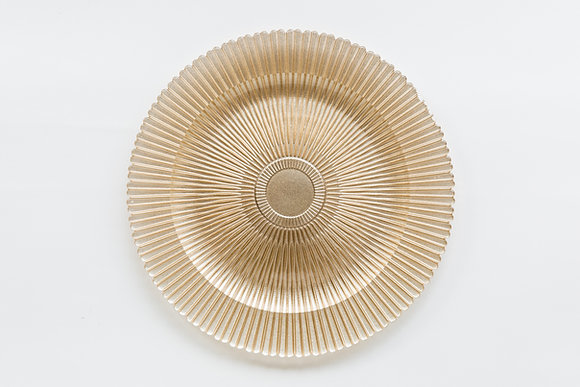 MEDICI GOLD GLASS CHARGER
