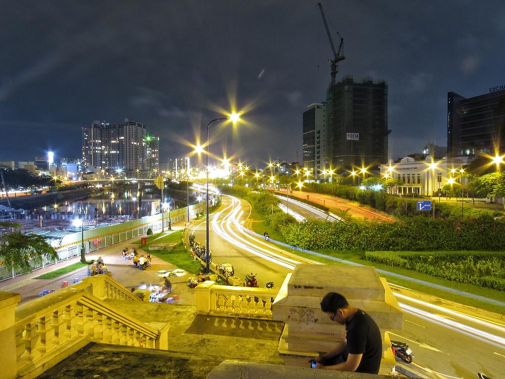 Saigon (Ho Chi Minh City) at night, Vietnam