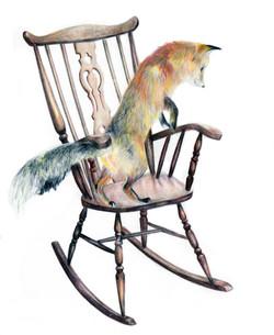 Fox on chair
